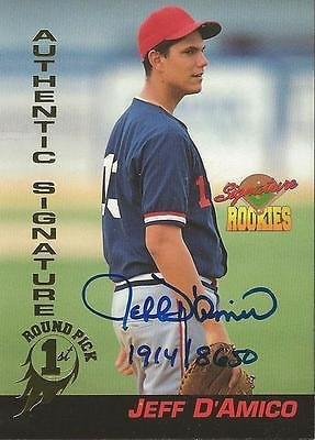 (Jeff D'Amico 1994 Signature Rookies Certified Autograph Card RC /8650 #30)