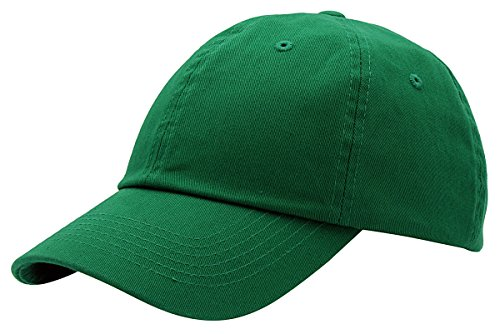 BRAND NEW 2016 Classic Plain Baseball Cap Unisex Cotton Hat For Men & Women Adjustable & Unstructured For Max Comfort Low Profile Polo Style  Unique & Timeless Clothing Accessories By Top Level, Kelly Green, One Size
