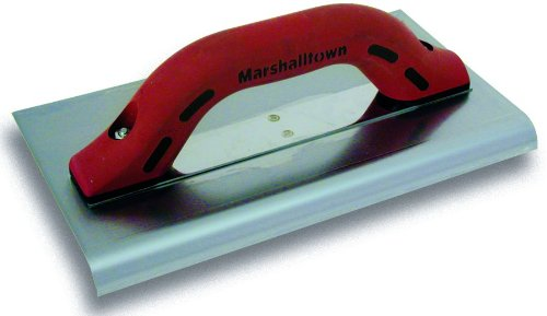 MARSHALLTOWN The Premier Line 130SSD 10-Inch x 6-Inch Big''I'' Stainless Steel Edger-3/8-Inch Radius, 1/2-Inch Lip DuraSoft Handle