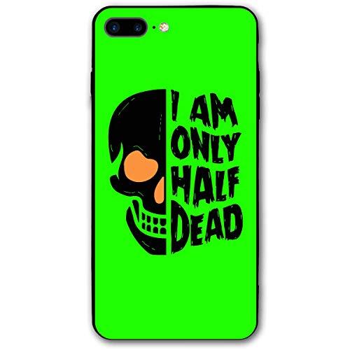 Halloween Half Dead Skull iPhone 8 Plus Case,Case for iPhone 7 Plus 2016 / iPhone 8 Plus 2017 Release Unisex