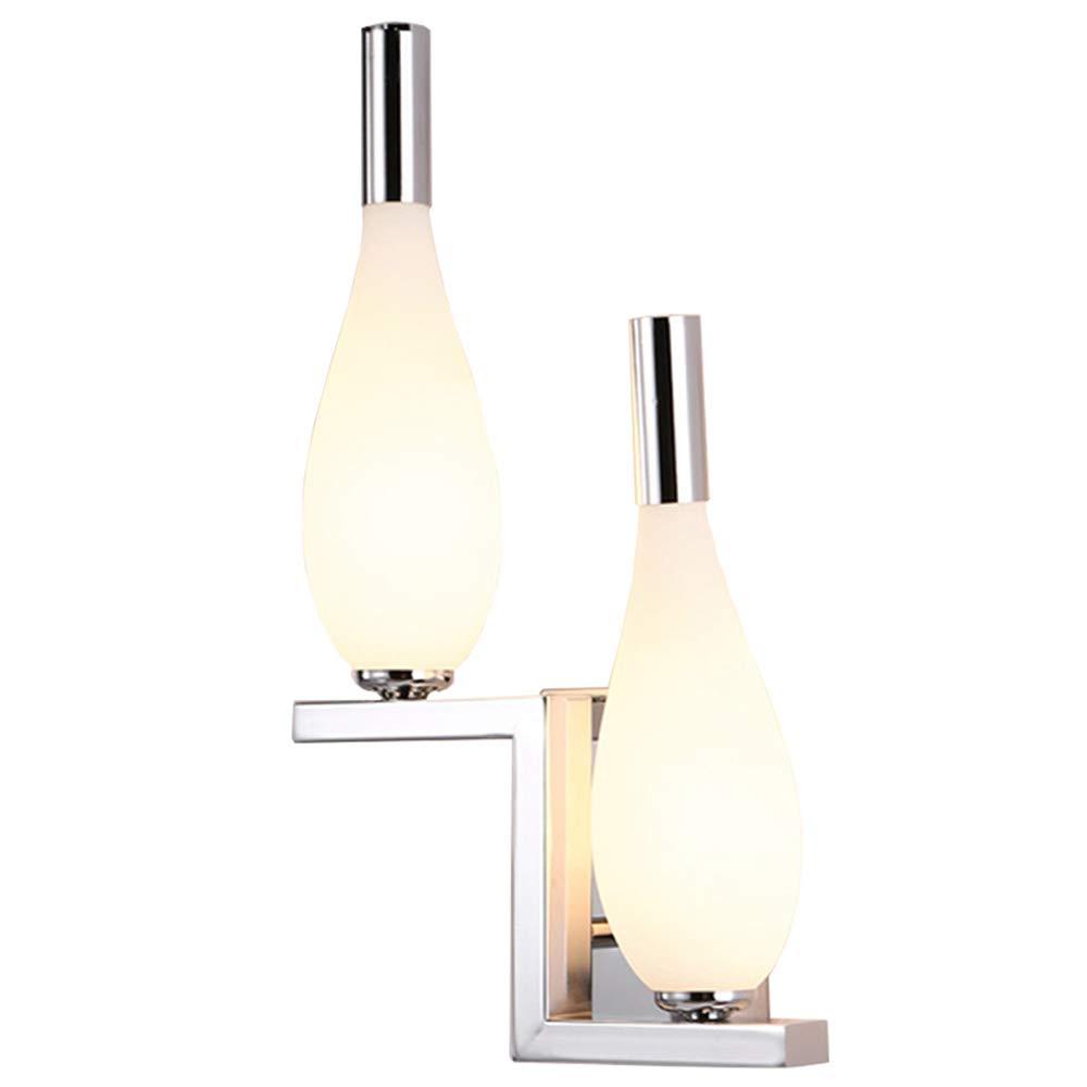 Mode Einfache LED Doppelkopf Wandleuchte Warme Moderne Schlafzimmer Nacht Wohnzimmer Wanddekoration Lampen Warmes Licht (design   Links)