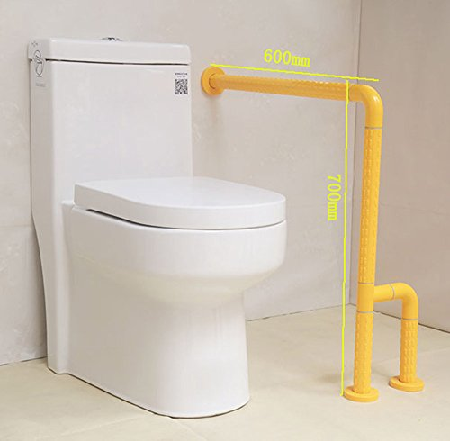 MDRW-Safety Handrail Toilet Railing Bathroom Toilet Armrest Old People Disabled Non Slip Seat Safety Handrailyellow by Olici