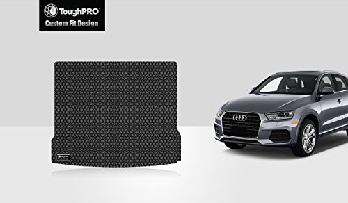 TOUGHPRO Cargo/Trunk Mat Accessories Compatible with Audi Q3 - All Weather - Heavy Duty - (Made in USA) - Black Rubber - 2015, 2016, 2017, 2018