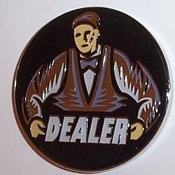 Premium Dealer Button Poker Guard by pokerweights
