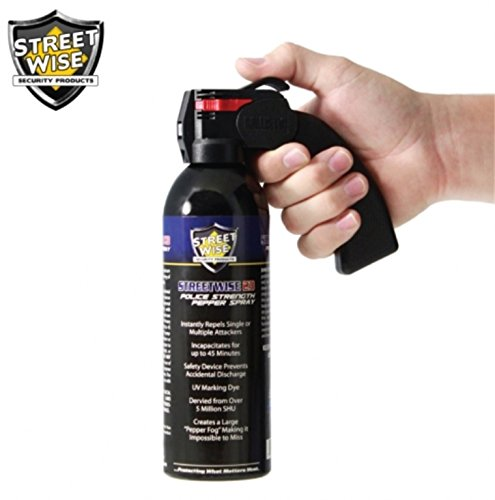 Streetwise Security Products Police Strength Streetwise 23 Pepper Spray, 16-Ounce, Pistol -