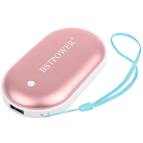 BSTPOWER Hand Warmers Rechargeable USB Hand Warmer 5200 mAh Power Bank Reusable Hand Warmer Electric Hand Warmer Pocket Warmer for Women Men Winter Gift