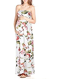 Women's Maternity Comfortable Maxi Tube Dress Made in USA