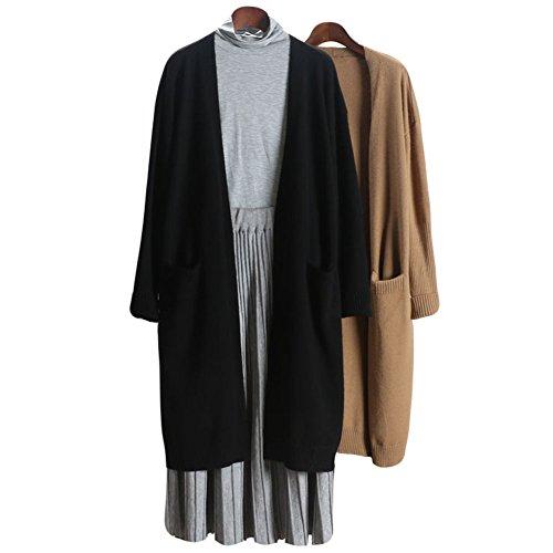 Zerlar Knit Cardigan Boyfriend Sweater Open Front Long Sleeve For Women Ladies