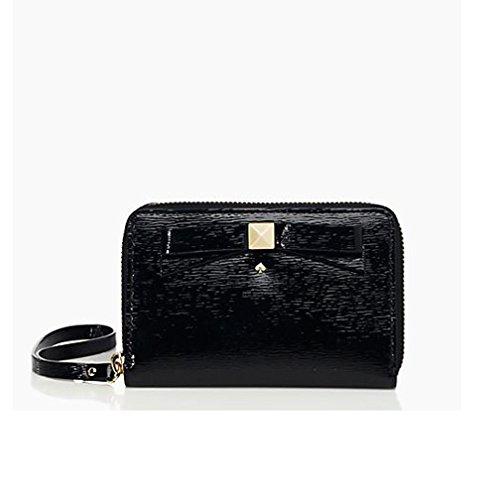 Kate Spade New York Beacon Court Louie Leather Cell Phone Wristlet - Black