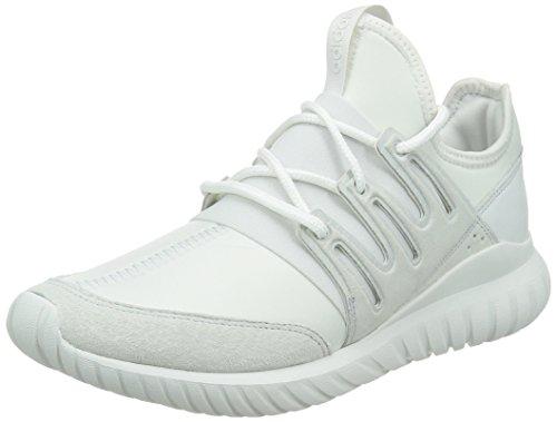 adidas Unisex Adults' Tubular Radial Low-Top Sneakers, White (Crystal White/Crystal White/Crystal White), 8.5 UK 42 2/3 EU