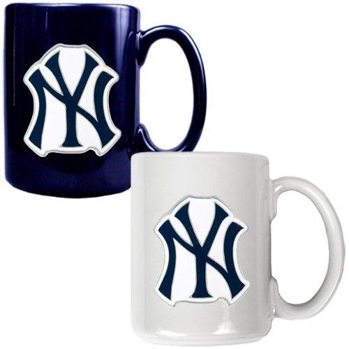 MLB New York Yankees Two Piece Ceramic Mug Set - Primary Logo