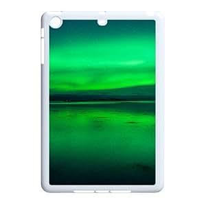 3D Aurora Borealis Series, IPad Mini 2D Cases, Aurora Borealis 2 Cases For IPad Mini 2D [White]