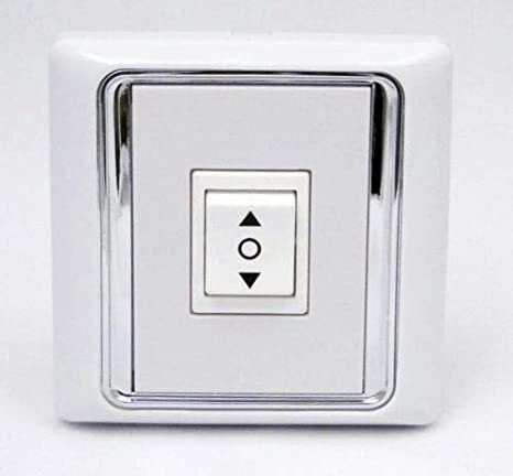 Rollerhouses AC506-01 3 Position ON//Off//ON Rocker Switch White AC120 60HZ Double Manual Wall Mounted Switch DPDT Work with Standard Mechanical Motor//Roller Shutter Motor