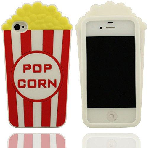 Klar modisches Design Popcorn-Form Soft-Silikon-Schutzhülle case für Apple iPhone 4 4S 4G Hülle