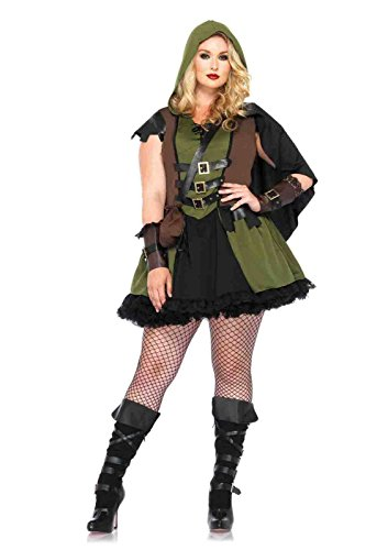 Robin Hood Ladies Fancy Dress (Plus 3pc Darling Robin Hood Costume Bundle with Pink Shorts)