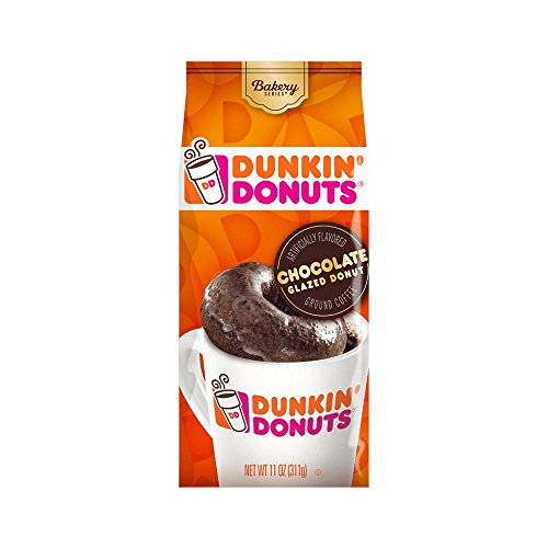 Dunkin' Donuts Bakery Series Ground Coffee, Chocolate Glazed Donut, 11 oz