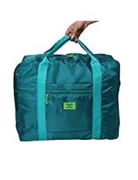 Doshop New Stylish Weekend Duffle Bag Carry on Sized Travel Duffle with Trolley Sleeve,Cabin Approved Flight Bag,Holiday Gym/Overnight Holdall Clothes Storage Packing Bag (Green)