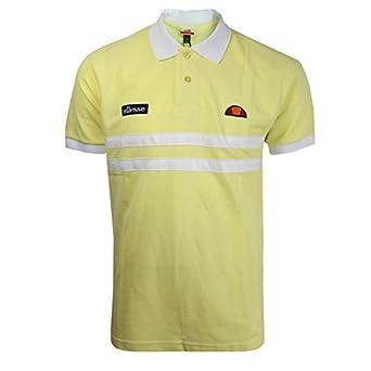 6739563a82 Mens Ellesse Dorio Lemonade Short Sleeve Polo Shirt: Amazon.co.uk ...