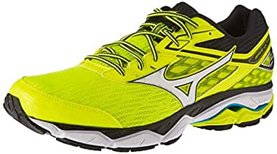 Mizuno Men's Wave Ultima 9 Shoes, Safety Yellow/Silver/Black, 8 US
