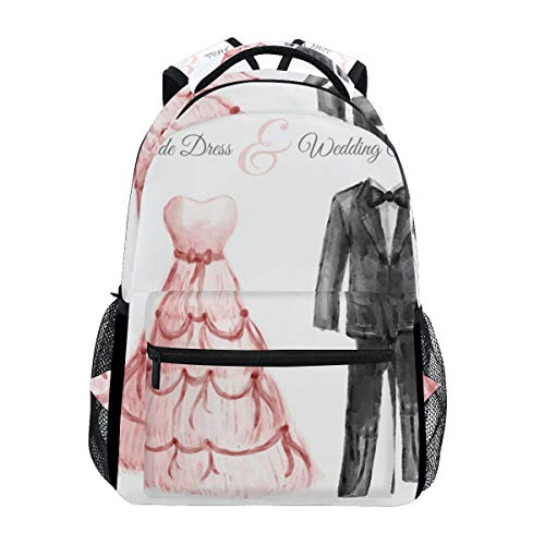 Backpack Travel Wedding Dress School Bookbags Shoulder Laptop Daypack College Bag for Womens Mens Boys Girls by FengYe