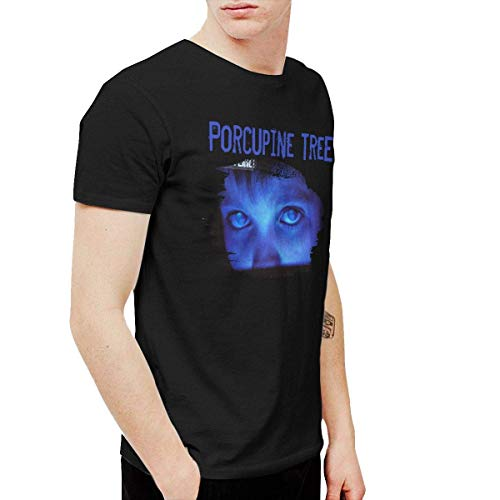 Katrina M Vaughn Porcupine Tree Fear of A Blank Planet Men's T-Shirts,Black,X-Large