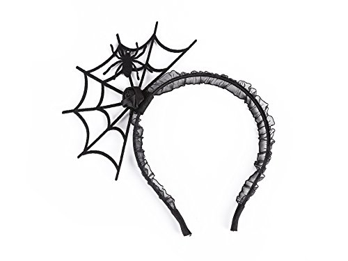 Cute Sexy Women Gothic Crown Spider Hair Hoop Headband Halloween Cosplay Creative Head Accessories Party Gift (C4) (Easy Spider Web Halloween Makeup)
