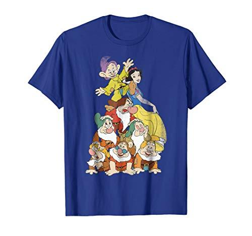 Disney Snow White Seven Dwarf Stack Graphic T-Shirt