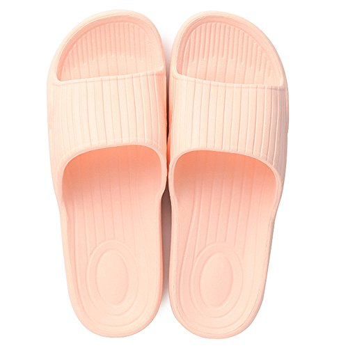 GAISHISHENGONG Couple Home Interior sandalfing Summer Indoor Floor Towing Bath Bathing Slip Slippery Word Slippers Male Light Pink c4WFg