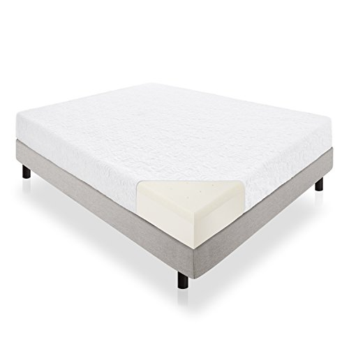 LUCID 10 Inch Latex Foam Mattress - Ventilated Latex and CertiPUR-US Certified...
