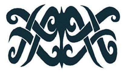 Tribal Borneo Temporary Tattoos / Set of 3