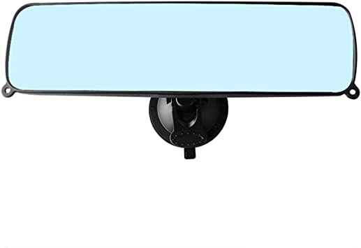 iSpchen Auto Saugnapf R/ückspiegel Auto Innenspiegel Weitwinkelspiegel Beobachtungsspiegel Innen R/ückspiegel f/ür LKW 360 Grad verstellbarer Weitwinkel R/ückspiegel,115x50mm Zusatzspiegel