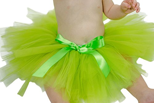 Princess Bowtique Baby Girl's Tutu Assorted Colors (0-2T, Lime) Halloween Party Birthday Dress Up Costume Tinkerbelle]()