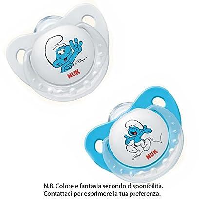 Nuk Trendline Los Pitufos - Chupete de silicona para bebés de 6 a 18 ...