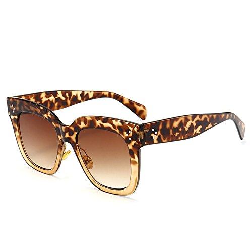 Crue Sunglasses - sunglasses high-end classic wild vintage trend sunglasses,C8 Leopard Print Tea Double Tea
