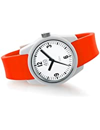 Women's 'BASIC' Quartz Plastic and Silicone Casual Watch, Color:Red (Model: 40N4.5L)