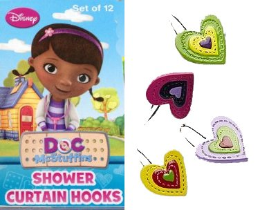 Amazon Disney Doc McStuffins Shower Curtain Hooks Home Kitchen