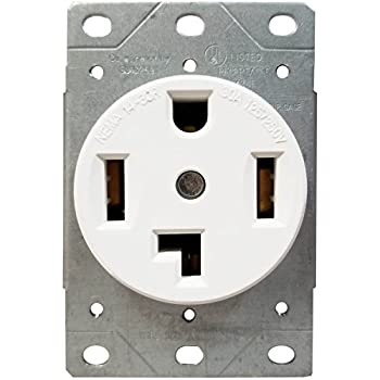 Amazon.com: EATON 1257-SP wall plates White: Home Improvement on wiring a dryer outlet, wiring a light switch and gfci outlet, wiring double outlet box, wiring a 110 outlet, dual wiring a receptacle outlet, wiring 240 vac outlet,