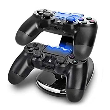Skins4u © Playstation 4 & Xbox oone Controlador Estación de Carga, Horizontal Soporte Twin Dual Duo USB para 2 Controller Docking Station Cargador con ...