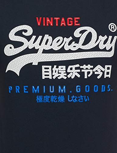 Pull Goods Homme Tee Sans Navy Manche Superdry Bleu Premium eclipse 98t Infill xn1RW5xCq