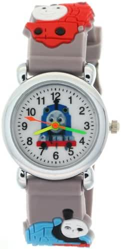 TimerMall Blue Rubber Strap Round Face Kids Watches with THOMAS & FRIENDS Theme
