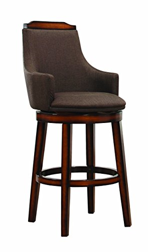 Homelegance Bayshore Swivel Pub Height Chairs (Set of 2), Chocolate