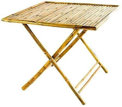 Tavolo da Giardino Pieghevole in Legno Quadrato 90x90 Bamboo Amicasa