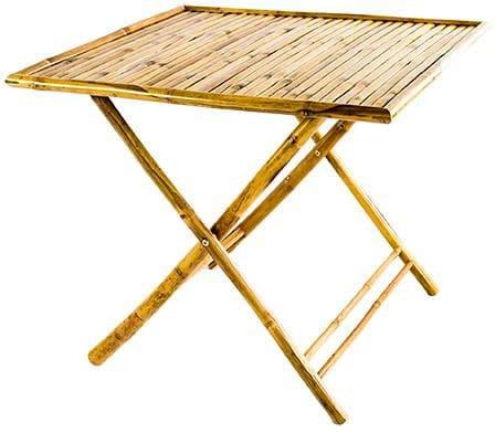 Tavolo Pieghevole 90x90.Tavolo Da Giardino Pieghevole In Legno Quadrato 90x90 Bamboo