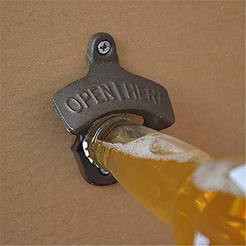 (Wall Designed Beer Bottle Opener Automatic Soda Cap Red Wine Bar Access - Bottle)