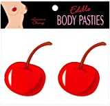 Gift Set Of Edible Body Pasties Cherry And Fetish Fantasy Series Furry Love Cuffs - Black