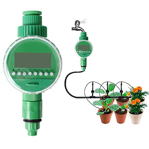 MEYUEWAL Water Faucet Hose Timer Automatic On Off Garden Watering Timer Smart Irrigation Controller with Rain Delay and Manual Control