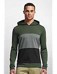 Men Escape LS Hood – Merino Woll - Pine - L – Men's Lightweight Breathable Hooded Long Sleeve