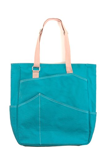 Tennis Tote Bag / Premium Canvas Fabric / Holds 2+ Tennis Rackets (Tennis Tote Bag)