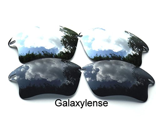 ee207fd339d Galaxy Replacement Lenses for Oakley Fast Jacket XL Black Titanium Color  Polarized 2 Pairs