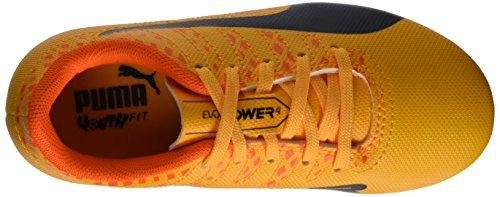 Puma Evopower Vigor 4 Fg Jr, Botas de Fútbol Unisex Niños Naranja (Ultra Yellow-Peacoat-Orange Clown Fish 03)